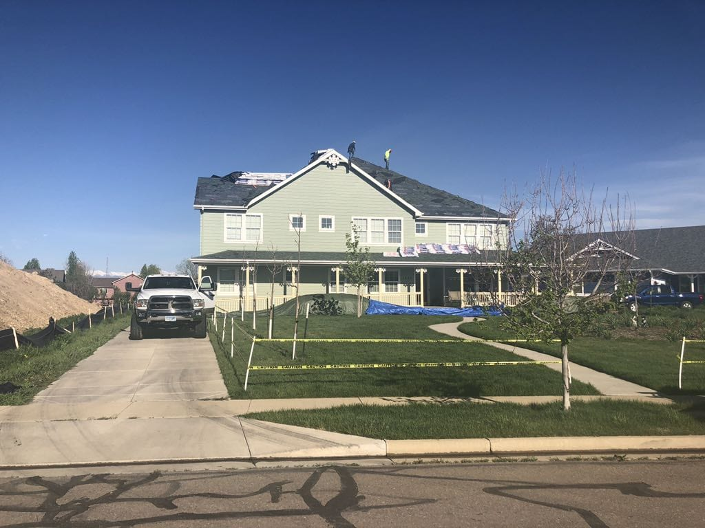 Large single-family roof replacement in Erie