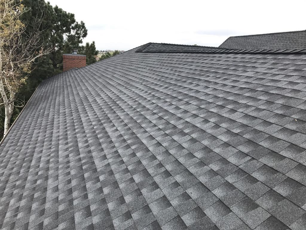Completed roof in Broomfield