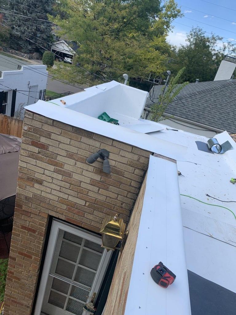 TPO install on residential roof in Denver