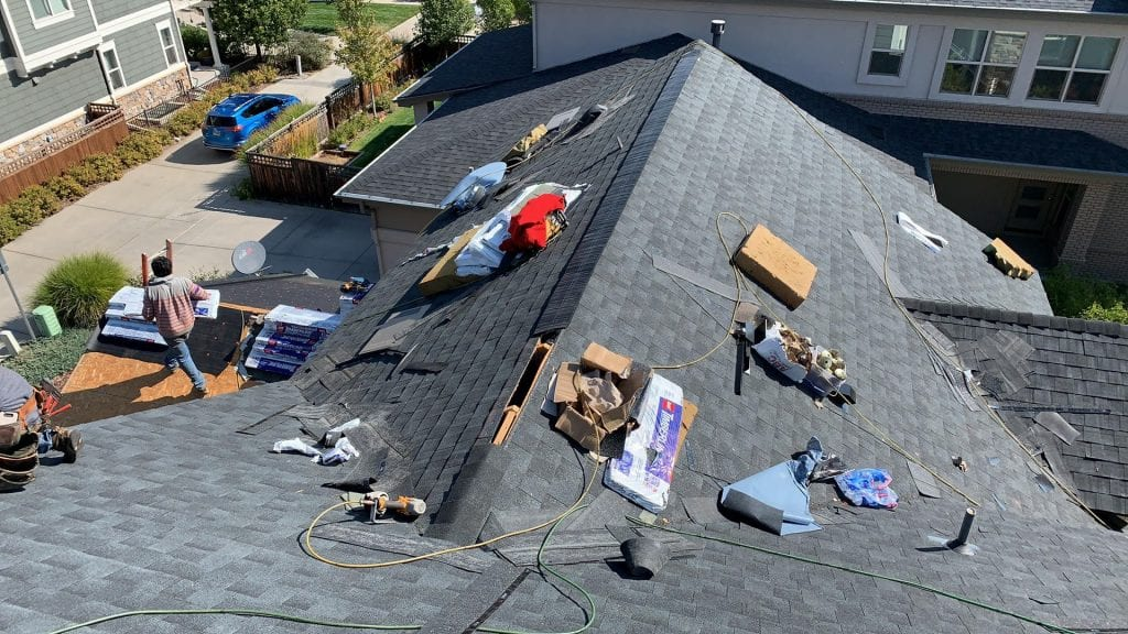 90% completed roof replacement