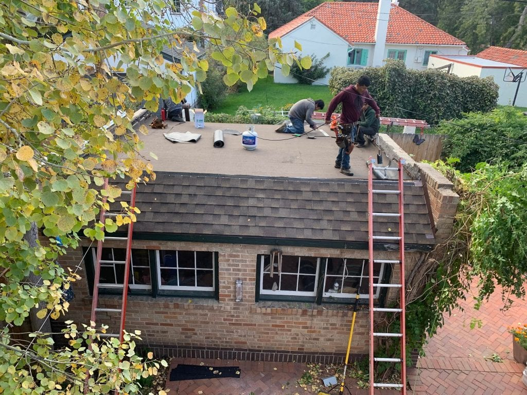 Flat roof replacement in Denver
