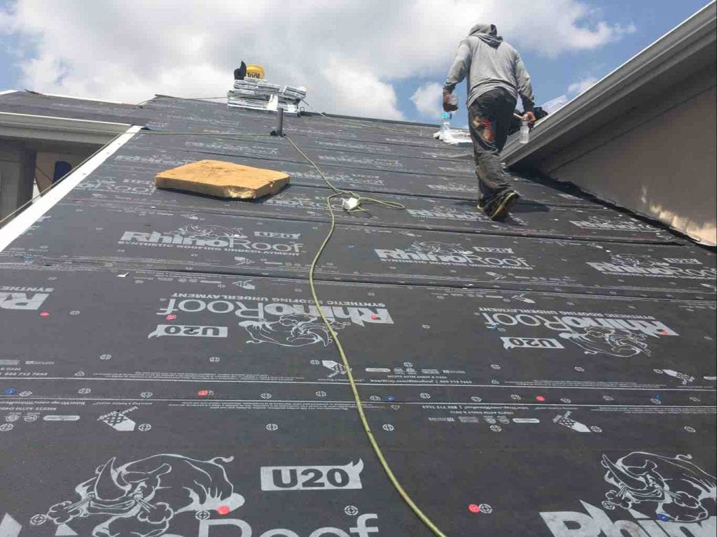 New synthetic underlayment in Westminster