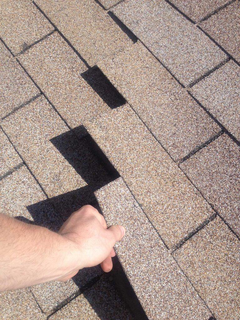 Wind damage (zippering)