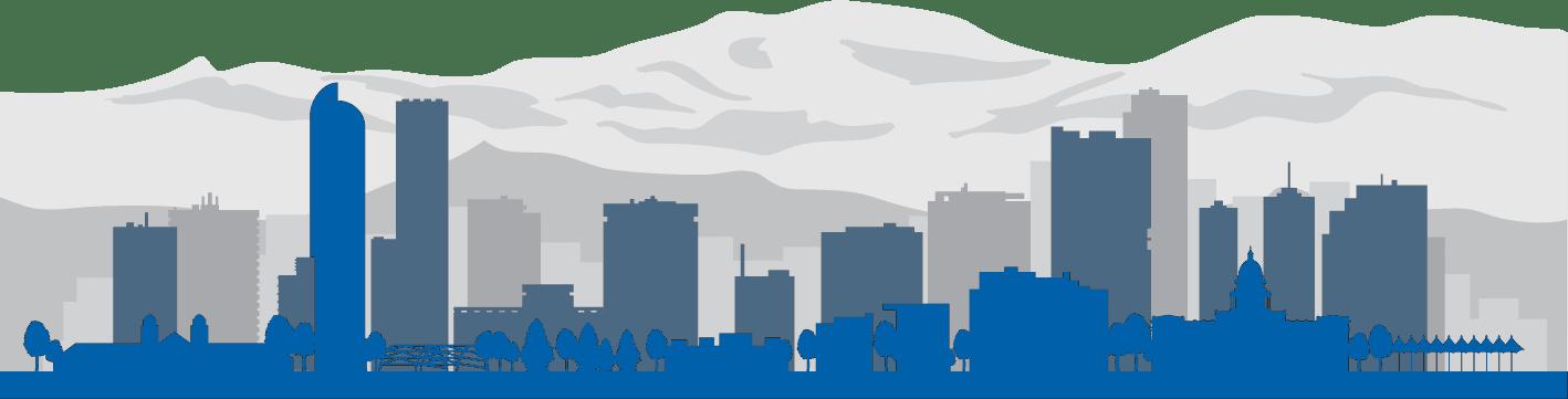 Denver mountains blue
